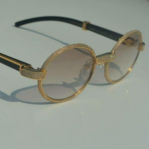 Iced out Vintage Cartier Sunglasses